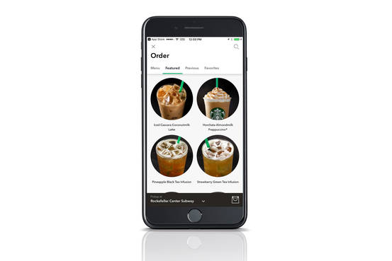 Getty Smartphone Starbucks App